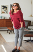 Пуловер з рукавами реглан і коміром-хомутом - фото 1