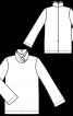 Пуловер з коміром гольф і рукавами-розтрубами - фото 3
