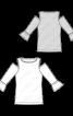 Пуловер трикотажний з відкритими плечима - фото 3