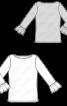 Пуловер з оборками на рукавах - фото 3