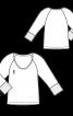 Пуловер з рукавами-реглан і глибоким вирізом - фото 3