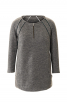 Пуловер прямого крою з рукавами реглан - фото 2