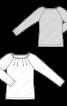 Пуловер з довгими рукавами реглан - фото 3