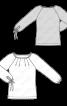 Пуловер реглан з кулісками на рукавах - фото 3