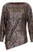 Пуловер асиметричного крою з вирізом-човником - фото 2