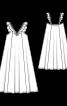 Сукня-сарафан на бретелях з оборками - фото 3