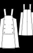 Сарафан А-силуету з кишенями у швах - фото 3