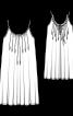 Платье-сарафан на тонких бретелях-спагетти - фото 3