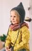 Шапка плетена з довгими зав'язками - фото 1