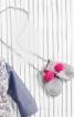 Шапка і рукавиці з яскравими помпонами - фото 2