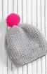 Шапка і рукавиці з яскравими помпонами - фото 1
