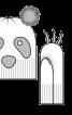 """Шапочка-""""Панда"""" і рукавиці з """"кігтями"""" - фото 3"""