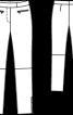 Брюки шкіряні вузького крою - фото 3
