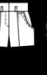 Бермуди шовкові з довгим поясом - фото 3