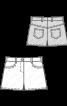 Шорти джинсові з одворотами - фото 3