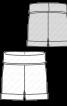 Шорти трикотажні з високим поясом - фото 3