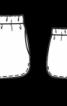 Шорти з округленими розрізами - фото 3