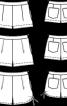 Шорти короткі з кишенями у швах - фото 3