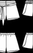 Шорти шовкові із поясом-зав'язкою - фото 3