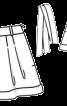 Шорти міні зі складками і одворотами - фото 3