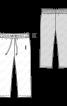 Штанці оксамитові на еластичному поясі - фото 3