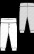 Штани трикотажні з високим поясом - фото 3