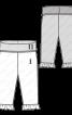 Штани трикотажні з високим поясом і оборками - фото 3