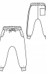 Брюки джогери із заниженим кроковим швом - фото 3