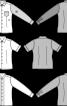 Сорочка приталеного крою комбінована - фото 3
