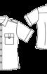 Сорочка з короткими рукавами і боковими розрізами - фото 2