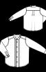 Сорочка із защипами і коміром-стойкою - фото 3