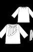 Блуза із застібкою поло і поясом - фото 3