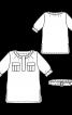 Блуза прямого крою із застібкою поло - фото 3