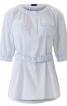 Блуза прямого крою із застібкою поло - фото 2