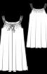 Сорочка нічна на тонких бретелях - фото 3