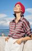 Блузка просторого крою із застібкою поло - фото 1