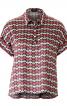 Блузка просторого крою із застібкою поло - фото 2