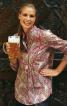 Блуза с пластроном і застібкою поло - фото 1