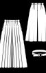 Спідниця-брюки зі знімним ременем - фото 3