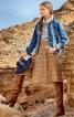 Спідниця-брюки з відлітним полотнищем - фото 1