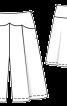 Спідниця-брюки на фігурній кокетці - фото 3