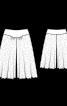 Спідниця-брюки на трикотажній кокетці - фото 3
