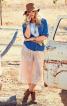 Спідниця-брюки на трикотажній кокетці - фото 1