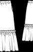 Спідниця максі з широкою оборкою - фото 3