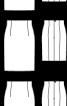Спідниця вузького крою з високою талією - фото 3