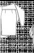 Спідниця-олівець з верхнім фігурним полотнищем - фото 3