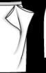 Спідниця прямого крою з оригінальними складками - фото 3