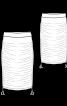 Спідниця трикотажна з драпіровками - фото 3