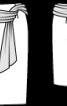 Спідниця-олівець з поясом-шарфом - фото 3