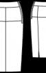 Спідниця-олівець з бавовняного оксамиту - фото 3